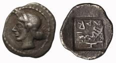Ancient Coins - Thessaly, Larissa, Silver Obol