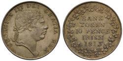 World Coins - Ireland, George III 1813 Ten Pence