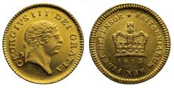 Ancient Coins - George III 1813 Third-Guinea, rare final date for denomination