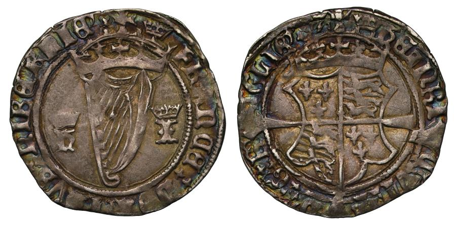World Coins - Ireland, Henry VIII 1st harp coinage Groat with Jane Seymour, mm crown