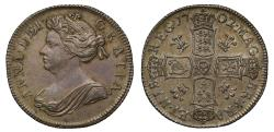 World Coins - Anne 1702 Shilling plumes