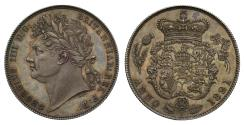 Ancient Coins - George IV 1821 proof Halfcrown, heavier garnished reverse
