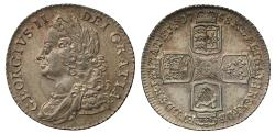World Coins - George II 1758 Shilling