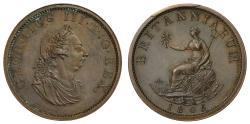 World Coins - George III 1805 Pattern Halfpenny