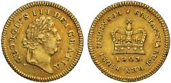 World Coins - George III gold Third-Guinea 1803 final date for type