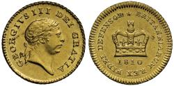 Ancient Coins - George III 1810 Third-Guinea