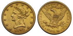 Us Coins - USA gold $10 1892 New Orleans