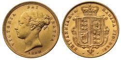 World Coins - Victoria 1880 Half-Sovereign, type A5, die number 119