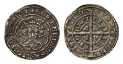 World Coins - Edward III Halfgroat of Two Pence, York Mint, Pre-Treaty Period