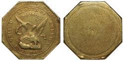 """Us Coins - USA, California 1851 """"887"""" Humbert """"slug"""" 50-Dollars XF45"""