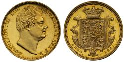 World Coins - William IV 1831 proof Half-Sovereign