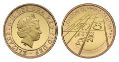 Elizabeth II 2008 proof Two-Pounds - London Olympic Centenary