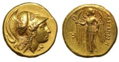 Ancient Coins - Macedon, Alexander III, the Great, Gold Distater, Amphipolis