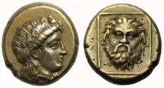 Ancient Coins - Lesbos, Mytilene, Electrum Hekte