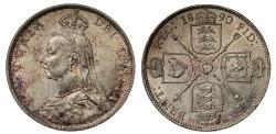 World Coins - Victoria 1890 Florin