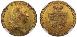 World Coins - George III 1794 Half-Guinea, slabbed AU58