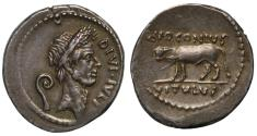 Ancient Coins - Divus Julius Caesar, Silver Denarius