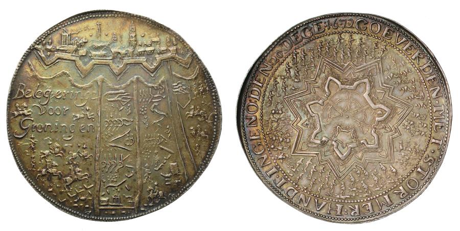 World Coins - Relief of Groningen and Siege of Coevorden, 1672.