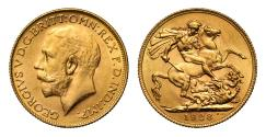 World Coins - George V 1928 P Sovereign, Perth Mint