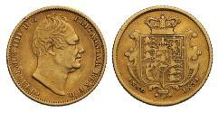 World Coins - William IV 1834 Half-Sovereign