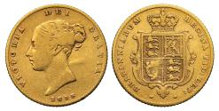 World Coins - Victoria 1855 Half-Sovereign, first type