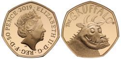 World Coins - Elizabeth II 2019 gold proof Fifty-Pence Gruffalo