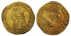 World Coins - Charles II Double-Crown of Ten Shillings, first issue without mark of value