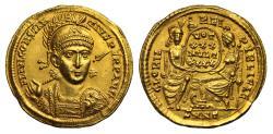 Ancient Coins - Constantius II, Gold Solidus, Mint of Nicomedia