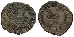 World Coins - Scotland, Mary Half Bawbee of Threepence (1542-58)