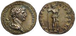 Ancient Coins - Trajan, Silver Denarius