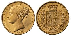 World Coins - Victoria 1872 Sovereign die no.50