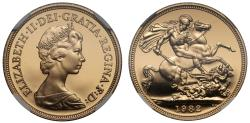 World Coins - Elizabeth II 1982 proof Sovereign PF69 ULTRA CAMEO