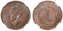 World Coins - British Honduras, Cent, 1942.