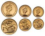 World Coins - Elizabeth II 1983 Three coin gold Proof Set