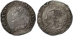 World Coins - Charles I, Shilling Tower Mint, group C, type 2a, mint mark rose, Sharp C2/1