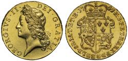 World Coins - George II 1741, overdate 4 over 3, Five-Guineas, young head