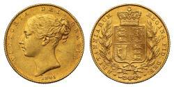 World Coins - Victoria 1845 Sovereign