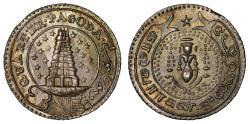 World Coins - Madras Presidency. Silver ¼-Pagoda.