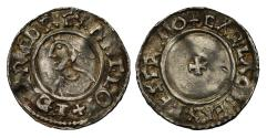 World Coins - Aethelred II small cross type Penny, Exeter, Carla, full mint reading