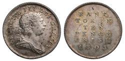 World Coins - Ireland, George III Bank of Ireland 10-Pence, 1805