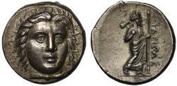 Ancient Coins - Satraps of Caria, Hidrieus, silver Tetradrachm, mint of Halikarnassos