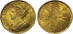 World Coins - Anne 1714 Post-Union Guinea