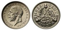 World Coins - George V 1927 silver proof Threepence