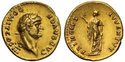 Ancient Coins - Domitian, Gold Aureus, struck as Caesar by Vespasian, Rome mint