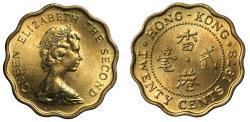 World Coins - Hong Kong 20-Cents, 1978.