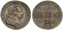 World Coins - George I 1723 Shilling, shields on reverse in worng order, French arms at date