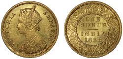 World Coins - Gold Mohur, 1888C.
