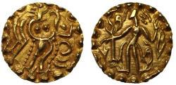 World Coins - Post-Gupta, Samatata, Gold Stater.