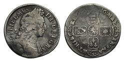 World Coins - William III 1696 Shilling, error reading on reverse MAB for MAG
