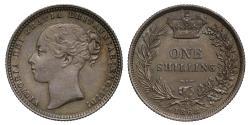 World Coins - Victoria 1868 Shilling die 9